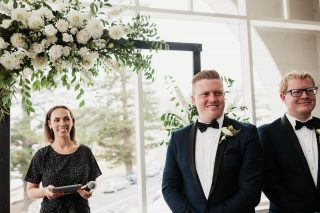 You gotta love a groomsman who also gets a bit emosh when the bride walks in.  ⠀⠀⠀⠀⠀⠀⠀⠀⠀ It's a moment you wish you had a bazillion sets of eyes so you can watch the groom, be in awe of the bride, look at the parents and be part of everyone's moment because it's a real special one that gives me tingles every time.  ⠀⠀⠀⠀⠀⠀⠀⠀⠀ No better photographer than @wolfandwildflowerphotography to capture the magic at @crowneplazaterrigal with @josiahmusic setting the lovey dovey tones in the background. ⠀⠀⠀⠀⠀⠀⠀⠀⠀ #celebrant #northernbeaches #northernbeachesweddings #northernbeachesweddingsandevents #sydneycelebrant #georgiafletchercelebrant #weddingceremony  #celebrant #northernbeaches #northernbeachesweddings #sydneycelebrant #weddingceremony  #weddingvendor #marriagecelebrant #marriagecelebrantsydney #instawedding #vows #sydneywedding